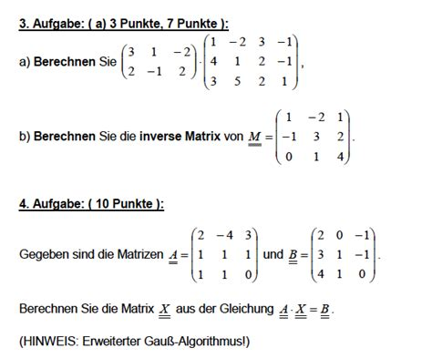 wann ist eine matrix invertierbar matrix und inverse matrix berechnen ist aufgabe 3a