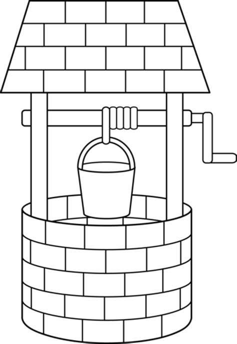 coloring page water well free coloring pages of water well