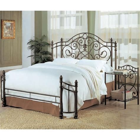 Antique Metal Headboard And Footboard beckley metal headboard footboard in antique green 300161q