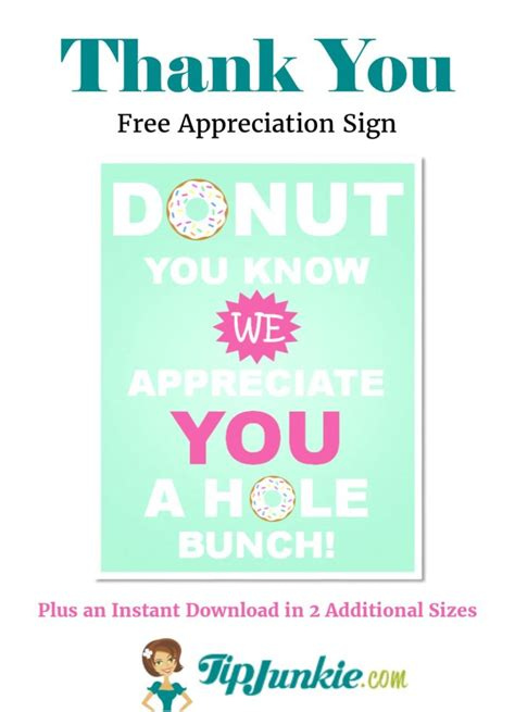 i appreciate you card template donut you we appreciate you 3 printables tip junkie