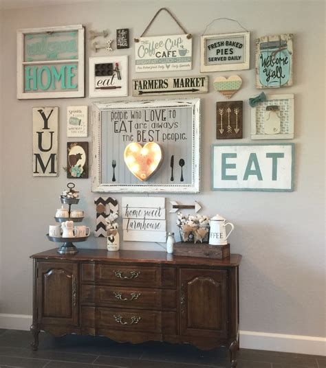 decorating ideas for kitchen walls my gallery wall in our kitchen i m colewifey on ig