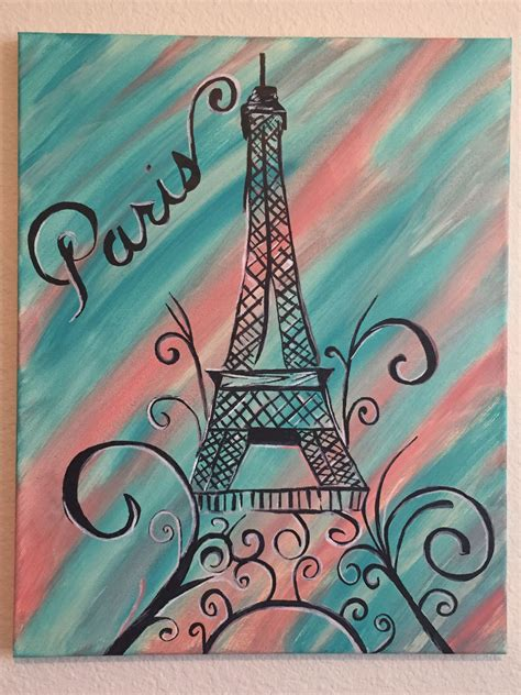 teal girls bedroom teal and coral back ground paris canvas i made to match a little girls bedroom