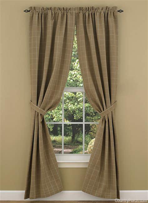 tieback curtains cobblestone lined window tieback curtain panels