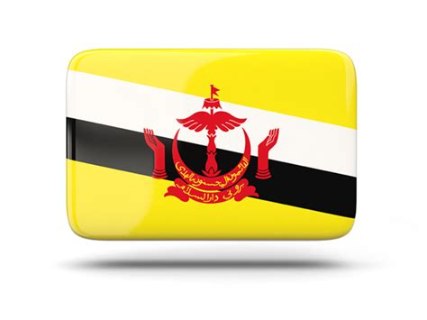 icon design brunei rectangular icon with shadow illustration of flag of brunei