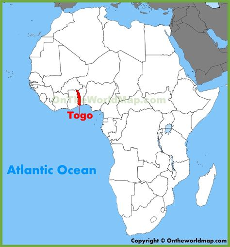 on the map togo location on the africa map