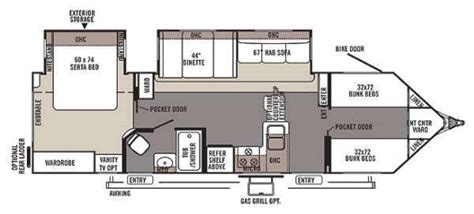 Rv Floor Plans With Bunk Beds | cer floor plans with bunk beds google search
