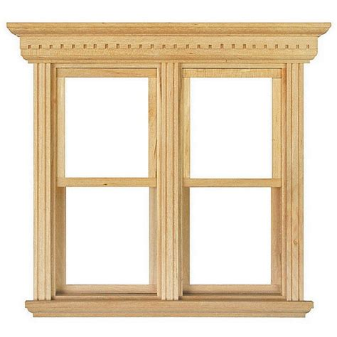 house window frames opening double sash window frame 1 12 scale diy184