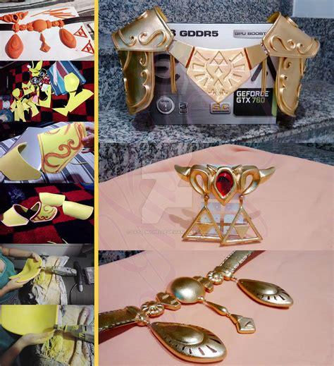 zelda pauldron pattern princess zelda ocarina of time cosplay progress by