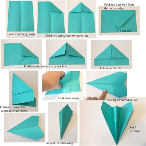 Step By Step To Make A Paper Airplane - 25 best ideas about airplane crafts on