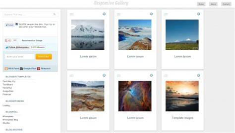 templates blogger gallery responsive gallery blogger template btemplates