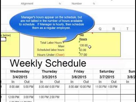How To Make A Work Schedule For Employees Make Employee Schedules In Microsoft Excel