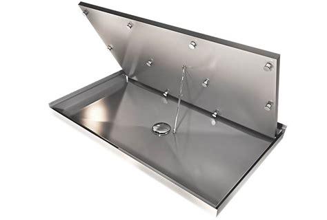 pedana doccia su misura sistema integrato bagno doccia su misura senza