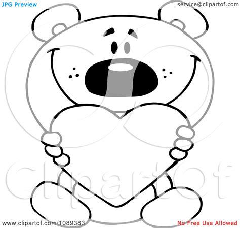 coloring pages of bears holding hearts teddy bear holding heart coloring pages