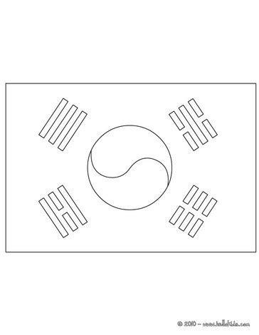 flag of korea republic coloring pages hellokids com