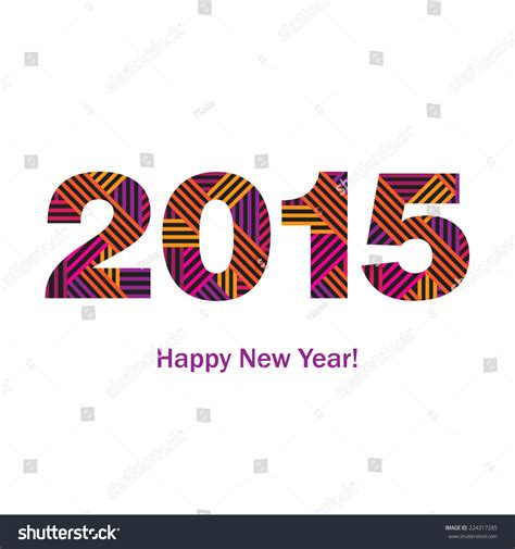 happy new year congratulations greeting card stock vector