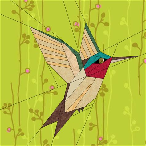 paper hummingbird template humming bird by quiltartdesigns craftsy