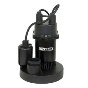 everbilt 1 4 hp submersible sump with tether sba025bc