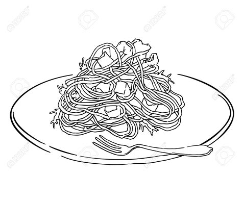 how to color pasta food pasta pencil and in color food pasta