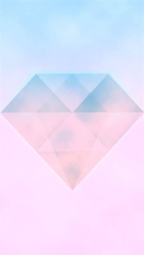 wallpaper iphone diamond pastel pink ombre watercolour diamond gem iphone phone