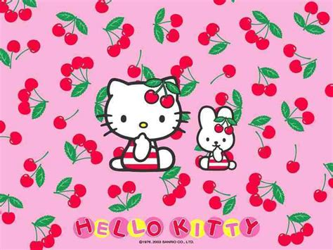 wallpaper hello kitty pink bergerak hello kitty cherry wallpaper hello kitty wallpaper