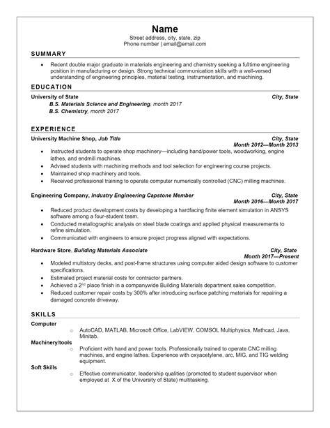 resume experience order resume ideas