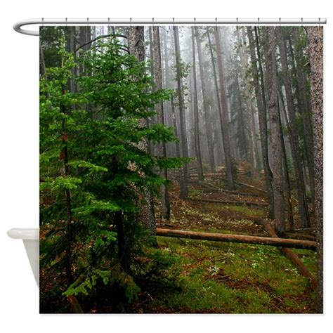 Curtains With Trees On Them Pine Forests 2 Shower Curtain By Saltypro Shop