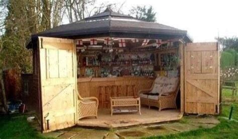 tool shed converted to bar shed house stuff