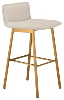 Brushed Gold Bar Stools by Sabrina Counter Stool Brushed Gold Contemporary Bar