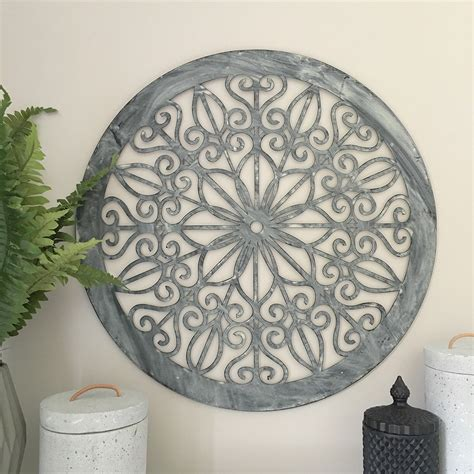 Decorative Round Metal Wall Panel Garden Art Screen Wall Outdoor Garden Wall Decor