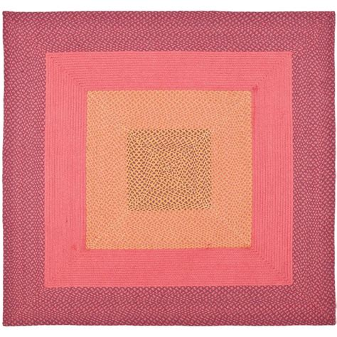 square braided rugs safavieh braided multi 6 ft x 6 ft square area rug brd165a 6sq the home depot