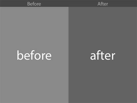 before after preview automated photoshop templates by