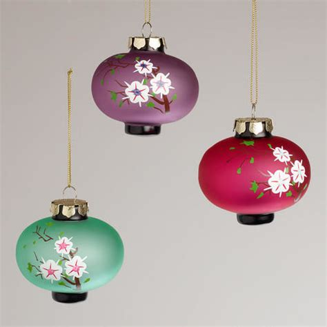 japanese ornament frosted glass plum lantern ornaments asian