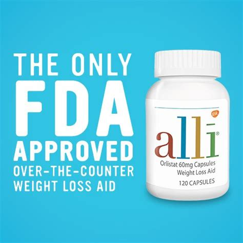 Fda Approved Weight Loss Drugs by Alli Orlistat Fda Approved 60 Milligram Weight Loss Aid