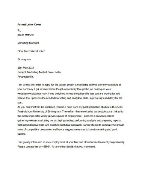 formal cover letters botbuzz co