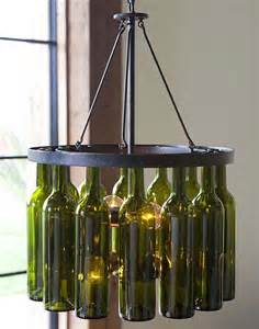 Wine Bottles Chandelier Pink Apples Wine Bottle Chandelier