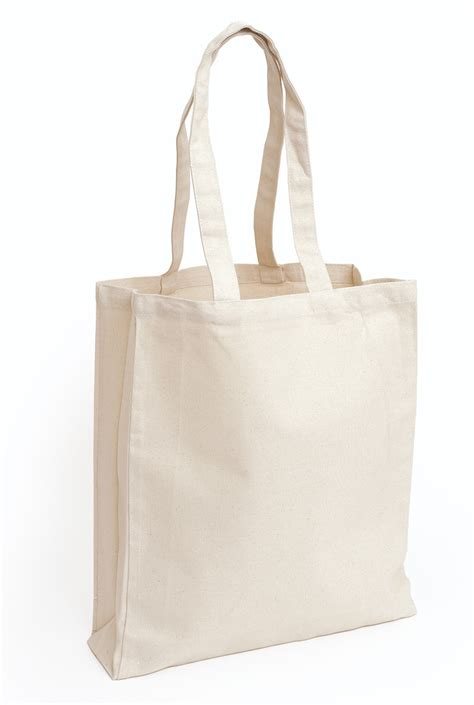 design your own deluxe natural canvas tote bag long