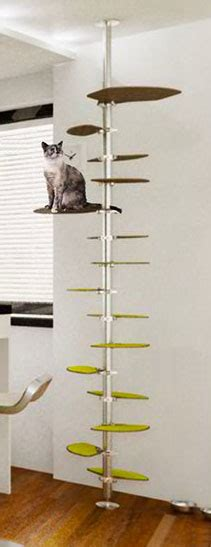 modern cat tree ikea a modern cat tree with carpeted platforms along a metal