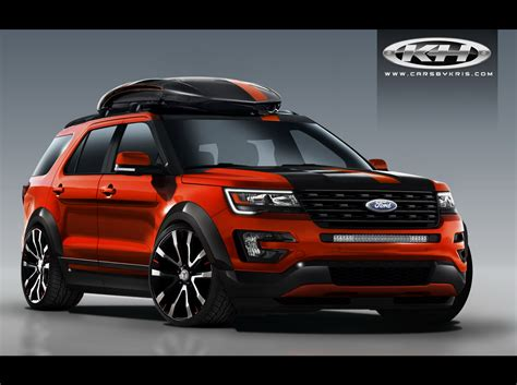 cars ford explorer ford bringing four customized explorer sport suvs to sema