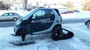 Canadian Tire Smart Car Tires Canadian Mechanic Converts Smart Car Into Snowmobile Upi