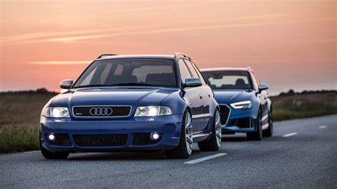 Audi Rs4 Vs by Audi Rs3 Sportback Vs 2001 Audi Rs4 Avant Is A Family Feud