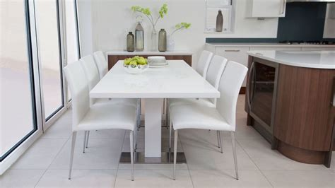 white dining tables uk modern rectangular white gloss extending dining table uk