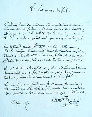 Dormeur Du Val Analyse by Le Dormeur Du Val Arthur Rimbaud