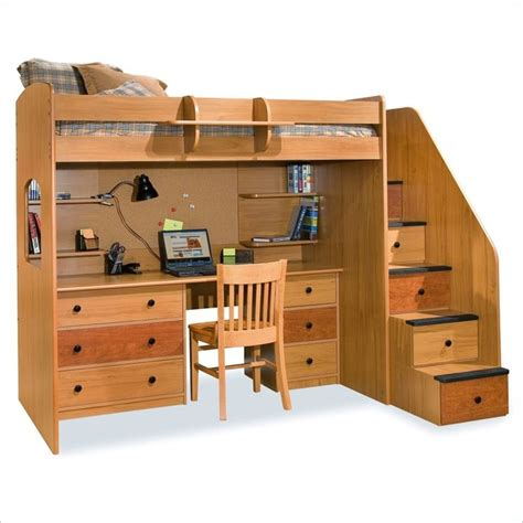 bunk beds desk loft bed with desk todd pinterest