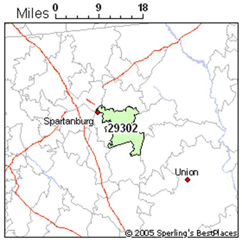 zip code map upstate sc best place to live in spartanburg zip 29302 south carolina