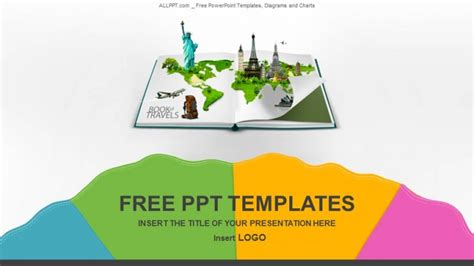 tourism powerpoint template book of travel recreation powerpoint templates