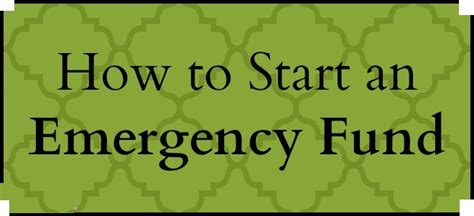 how to starting an emergency fund tea a month