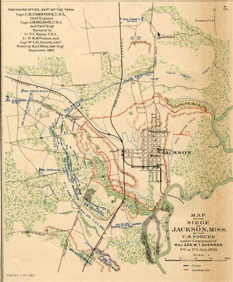 jackson usa maps september 1863 map of the siege of jackson mississippi