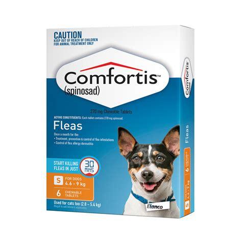 comfortis flea pill for dogs comfortis flea tablets for small dogs orange 4 6 9kg 6 pack ebay