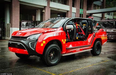 singapore reveals car sized firefighting red rhino