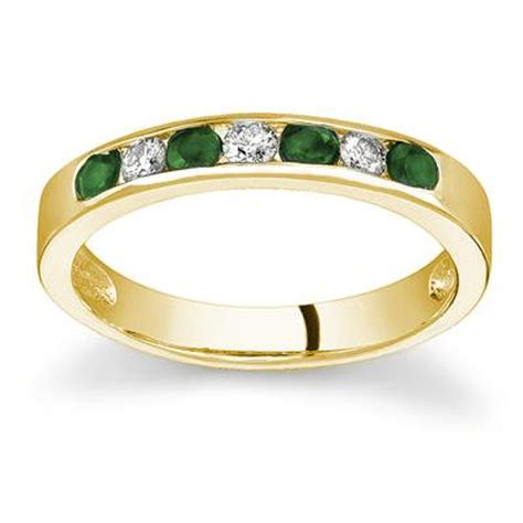 emerald and stackable channel ring prr1329em